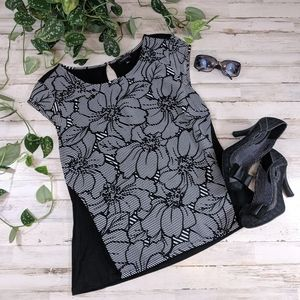 The Limited Black and White Floral Top